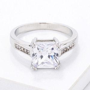 Classic  Princess Cut CZ Ring